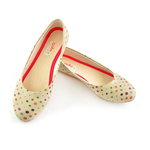 Colorful Spotted Ballerinas Shoes 1059 - Goby GOBY Ballerinas Shoes