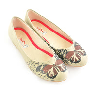 Bordeaux Butterfly Ballerinas Shoes 1060