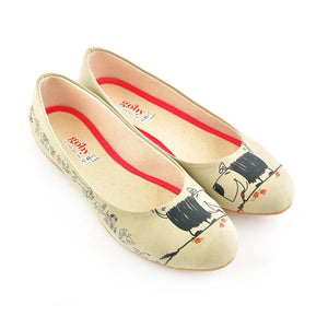GOBY Cute Dog Ballerinas Shoes 1066