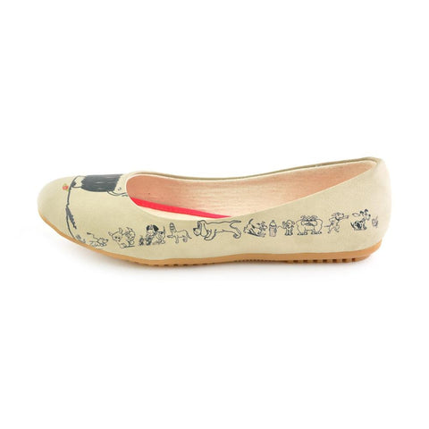 Cute Dog Ballerinas Shoes 1066 - Goby GOBY Ballerinas Shoes