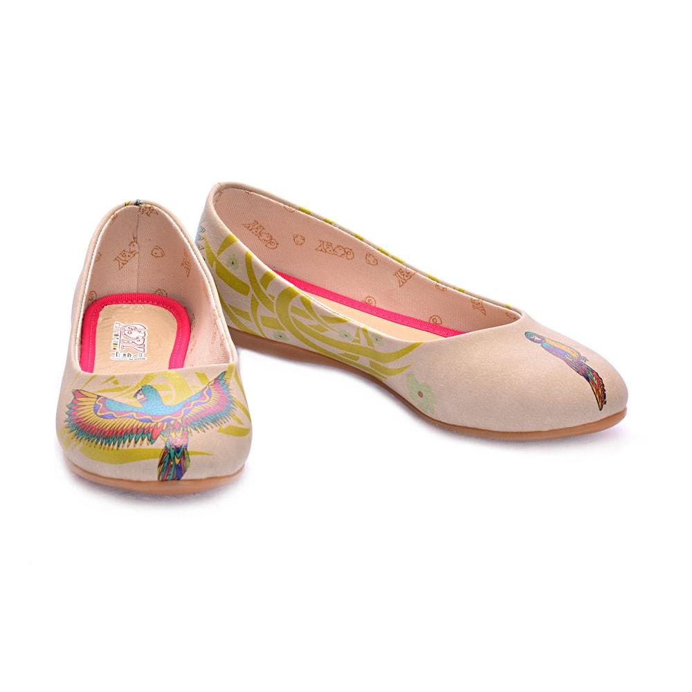 Flamboyant Parrot Ballerinas Shoes 1072 - Goby GOBY Ballerinas Shoes