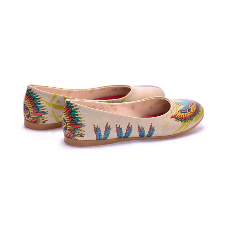 Flamboyant Parrot Ballerinas Shoes 1072