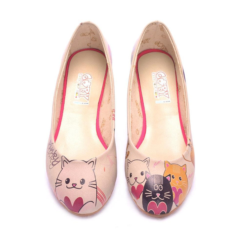 Cute Cats Ballerinas Shoes 1075 (506263109664)