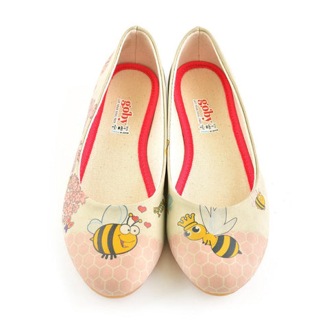Bee Ballerinas Shoes 1077, Goby, GOBY Ballerinas Shoes