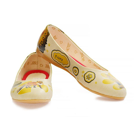 GOBY Awake Fox Ballerinas Shoes 1078