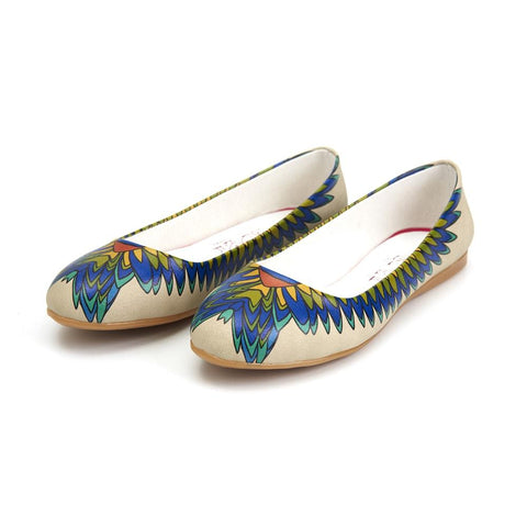 Indian Feather Ballerinas Shoes 1090