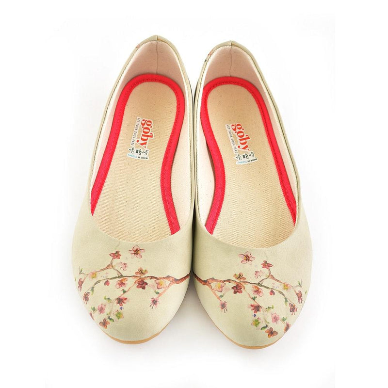 New Cherry Blossom Ballerinas Shoes 1091 (506263699488)