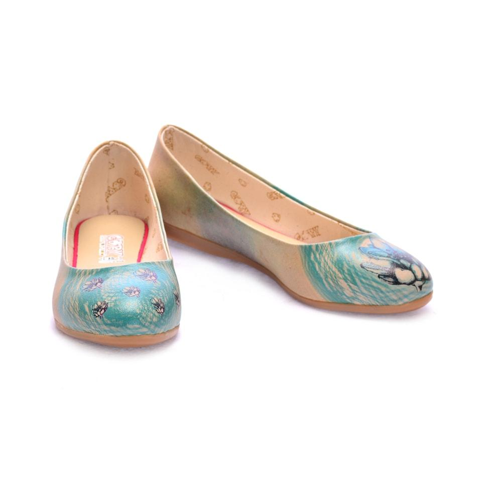 Artichoke Flower Ballerinas Shoes 1092, Goby, GOBY Ballerinas Shoes