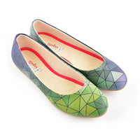 Colored Prismas Ballerinas Shoes 1094