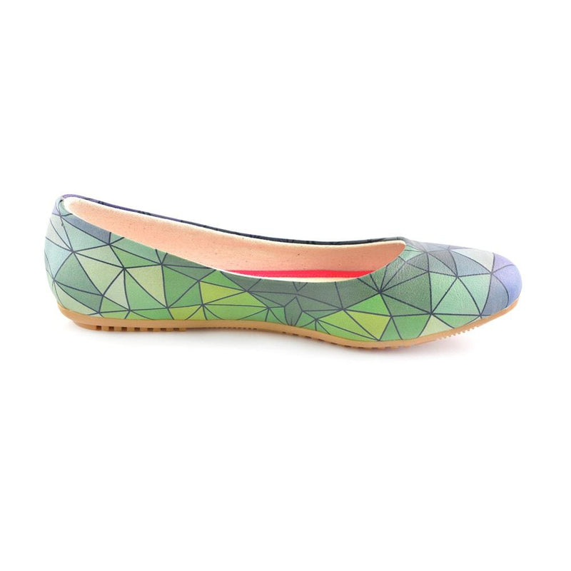 Colored Prismas Ballerinas Shoes 1094 (506263797792)