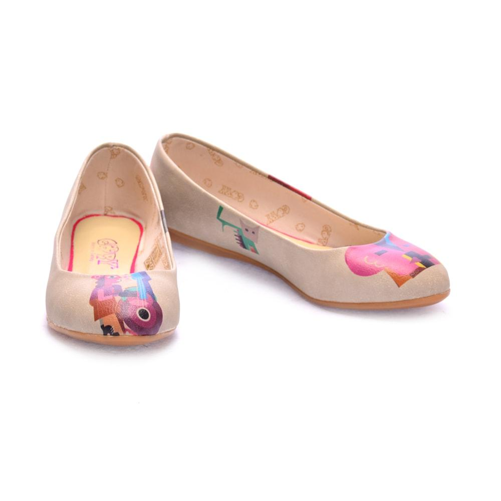 GOBY Abstract Music and Dialogue Ballerinas Shoes 1095