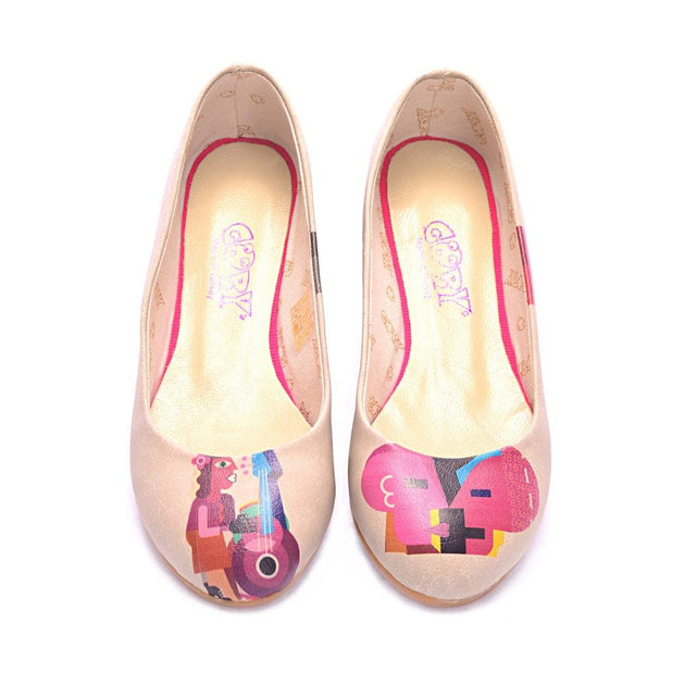 Abstract Music and Dialogue Ballerinas Shoes 1095, Goby, GOBY Ballerinas Shoes