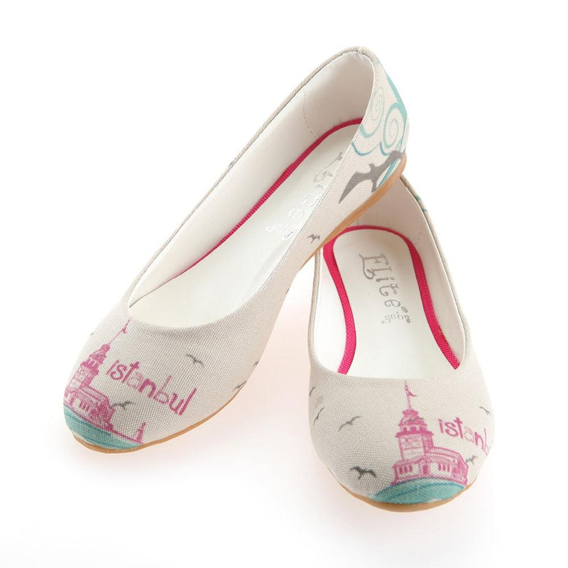 Istanbul: Maidens Tower Ballerinas Shoes 1101 (1405793763424)