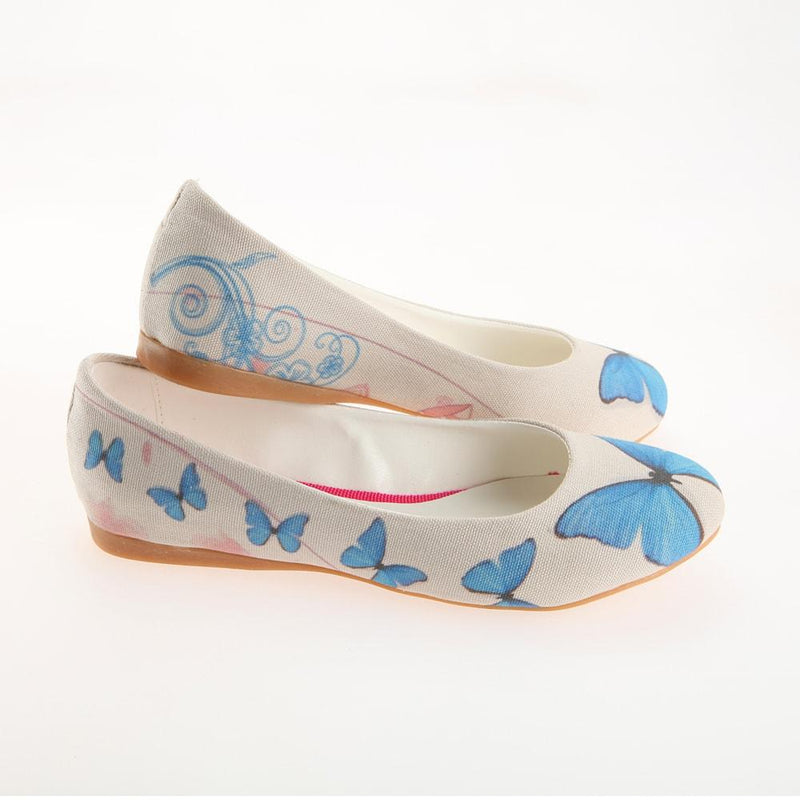 Blue Butterfly Ballerinas Shoes 1124 (1405794386016)