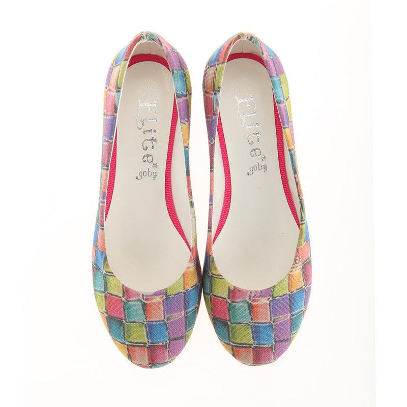 Colored Stones Ballerinas Shoes 1139 (1405794648160)