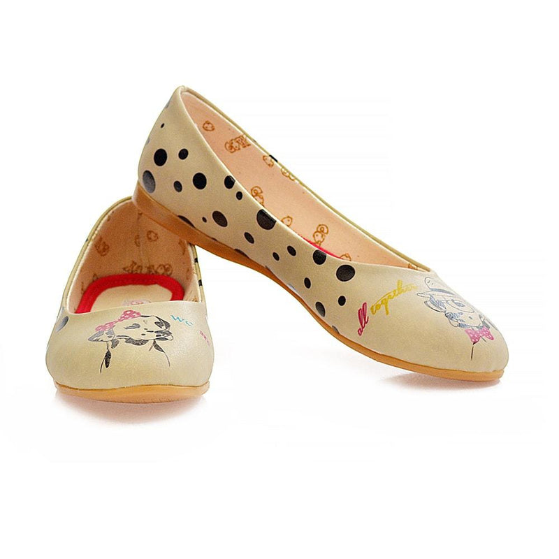 Dalmatian Frendly Ballerinas Shoes 2014 (506264223776)