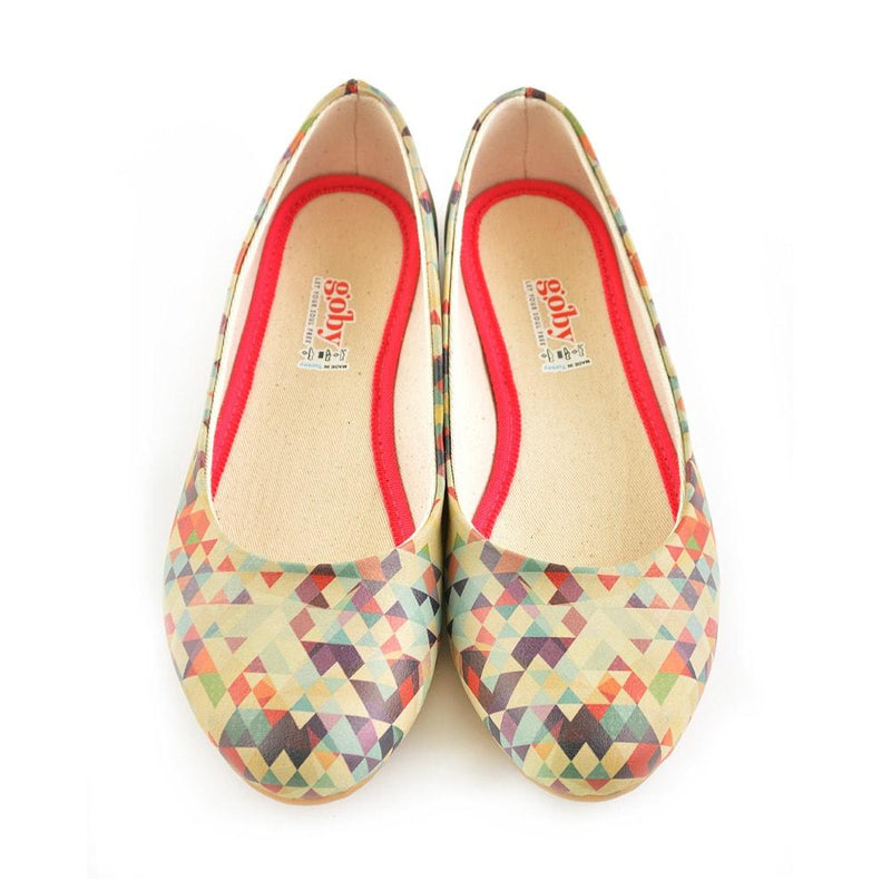 Geometric Colors Ballerinas Shoes 2028 (506264289312)