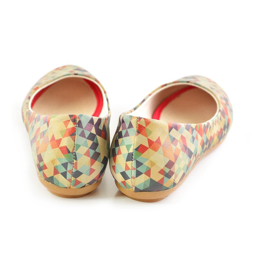 GOBY Geometric Colors Ballerinas Shoes 2028
