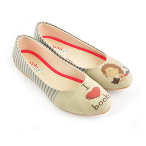 I Love Books Ballerinas Shoes 2033