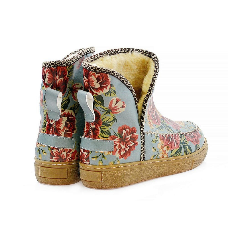 Natural Flowers Short Furry Boots ACAP104 (1329354276960)