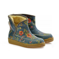 Anatolian Flowers Short Furry Boots ACAP113
