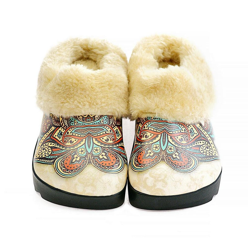 Color of Drawings Shearling Home Shoes ALB105 (1329356505184)