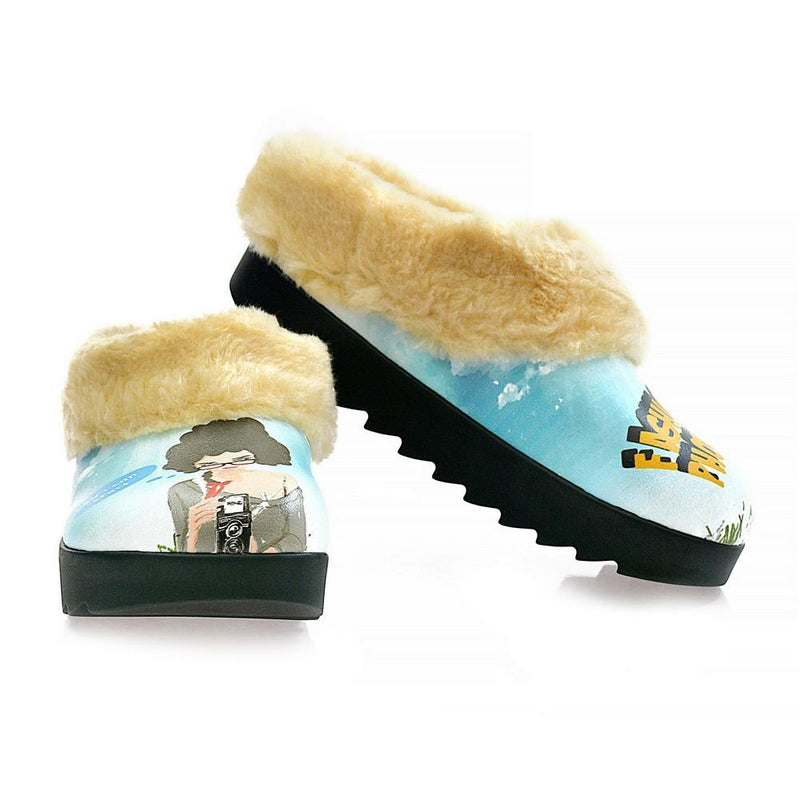 Fashion Fhotographer Shearling Home Shoes ALB108 (1329356669024)