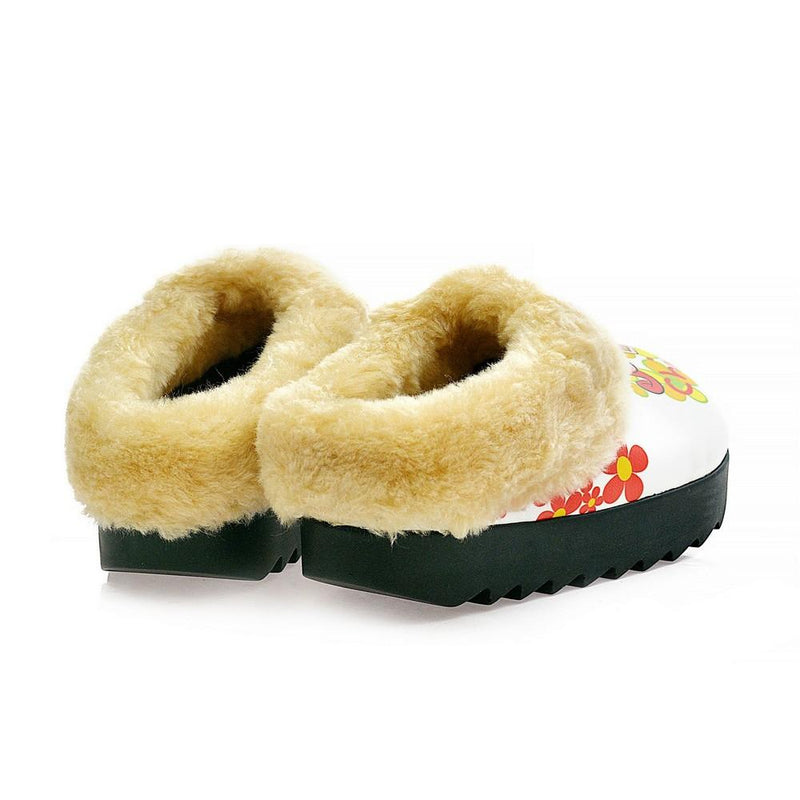 Photogenic Girl Shearling Home Shoes ALB109 (1329356701792)