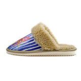 Paris & Pink Butterfly Shearling Slipper ALT101