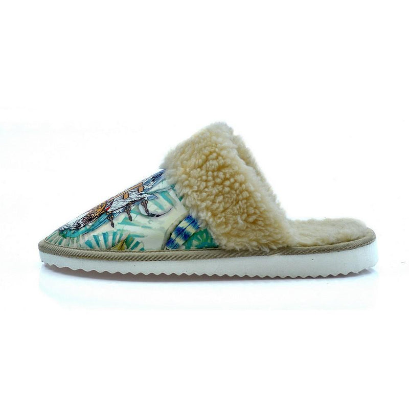 Wild Life Tiger Shearling Slipper ALT106 (1329357750368)