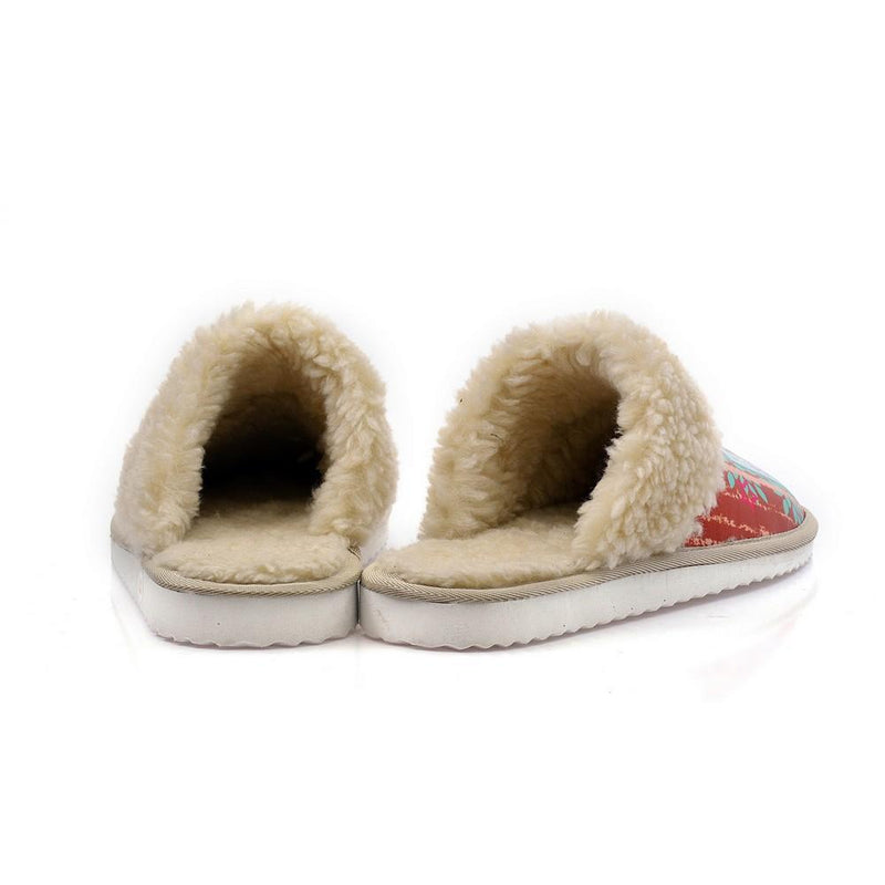 Love and Red Ribbon Shearling Slipper ALT109 (1329357848672)