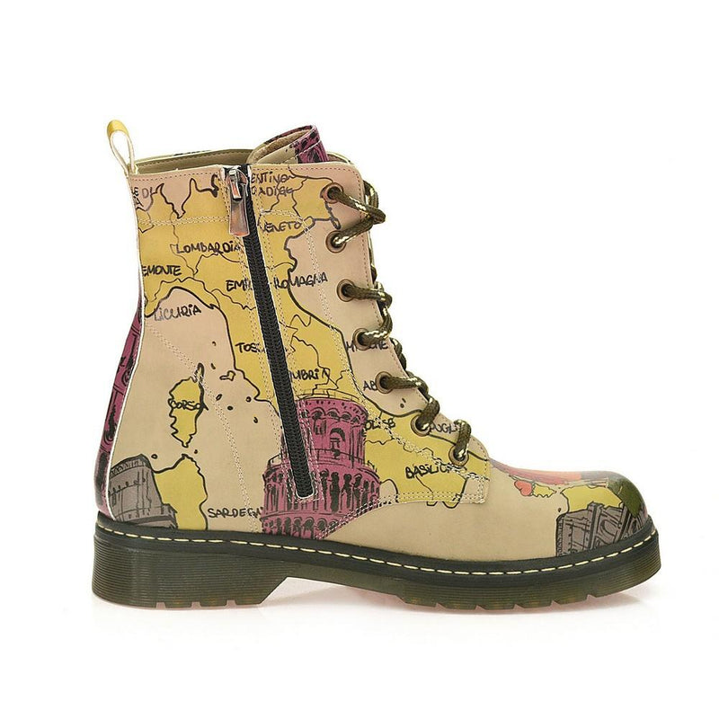 Map and Travel Long Boots AMAR101 (1329363255392)
