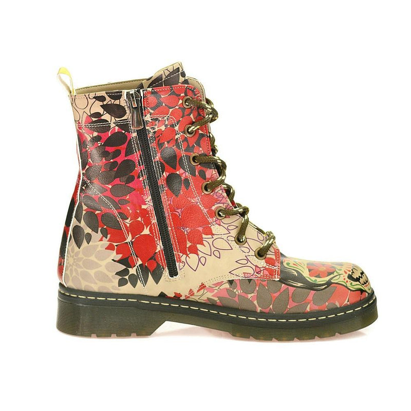 Rose Autumn and Skull Long Boots AMAR102 (1329363288160)
