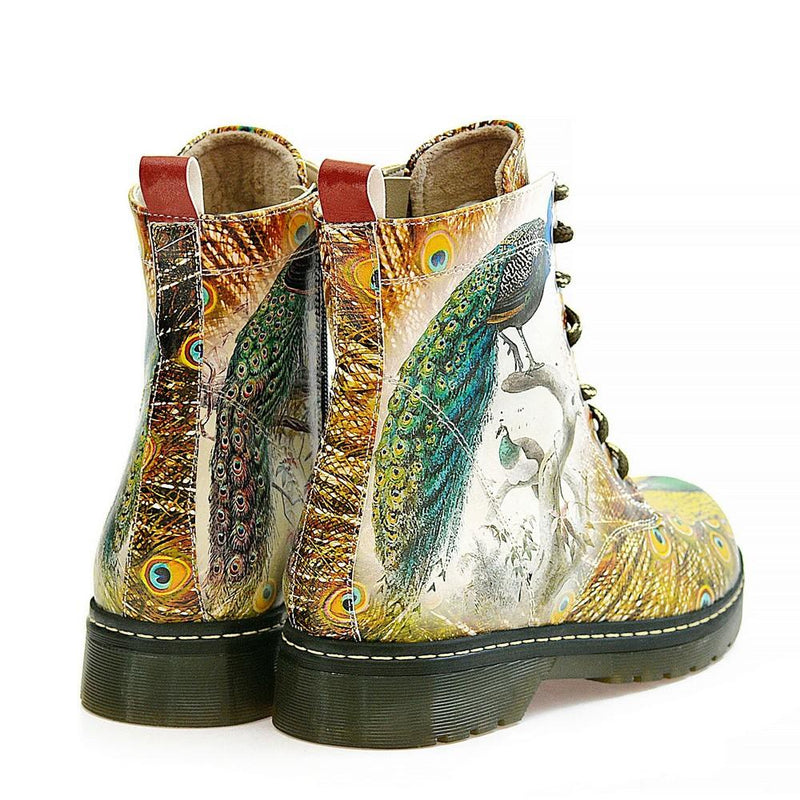Peacock Bird Long Boots AMAR116 (1329363877984)
