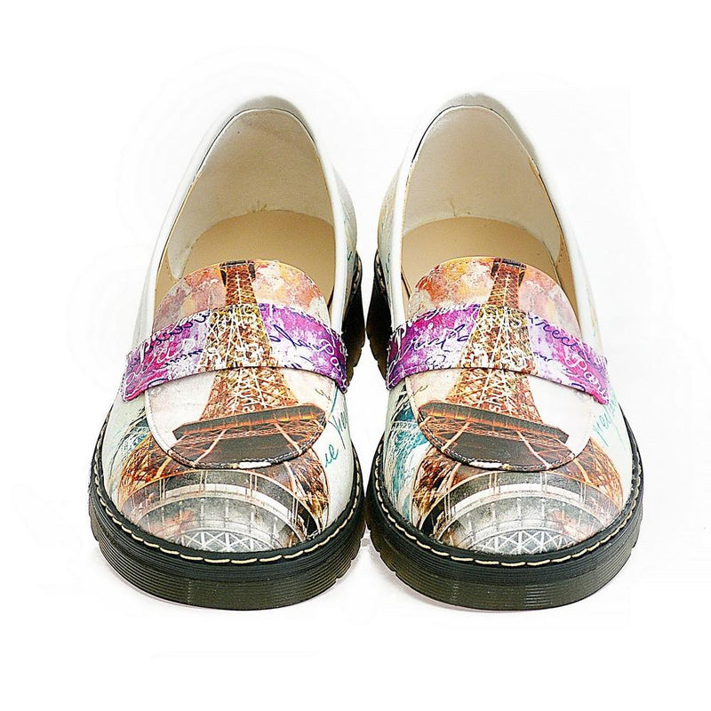 Paris and Eifel Towers Slip on Sneakers Shoes AMOX103 (1329358766176)
