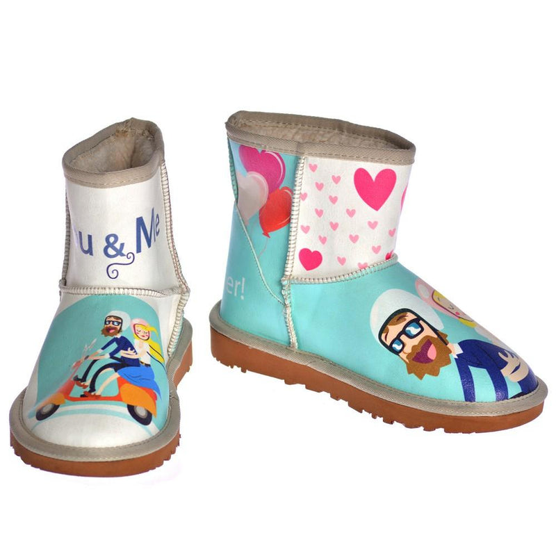 Adventure in Colorful Life Short Boots AUG101 (1329361715296)