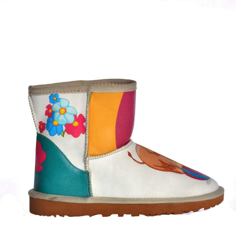Rainbow & Elephant Short Boots AUG103