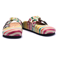 Womens Colored Lines Soft Comfort Slipper BKS103 (1421134856288)