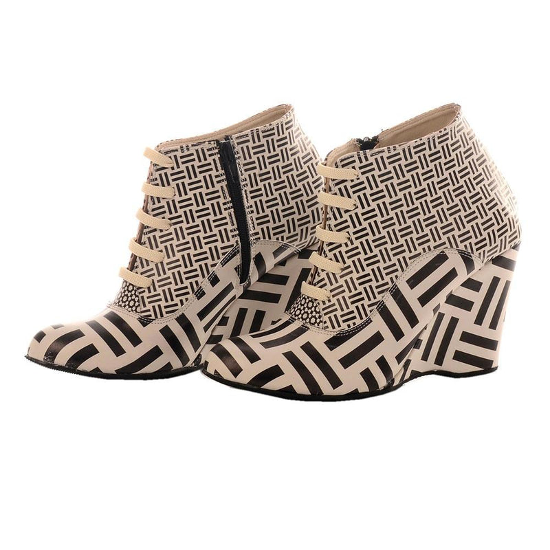 Pattern Ankle Boots BT204