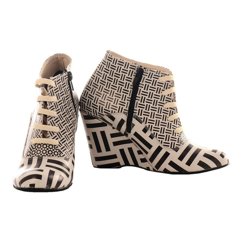 Pattern Ankle Boots BT204 (506264354848)