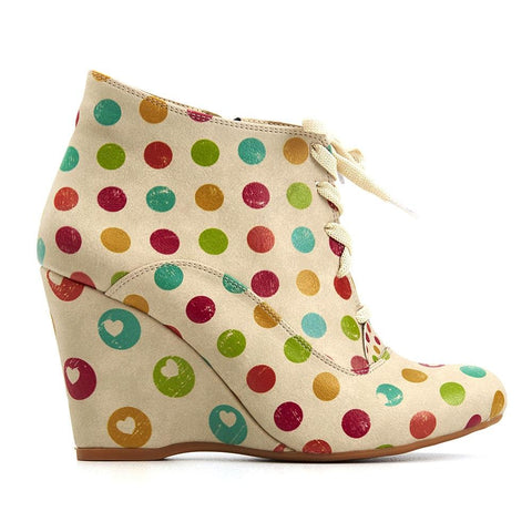 GOBY Colored Dots Ankle Boots BT217