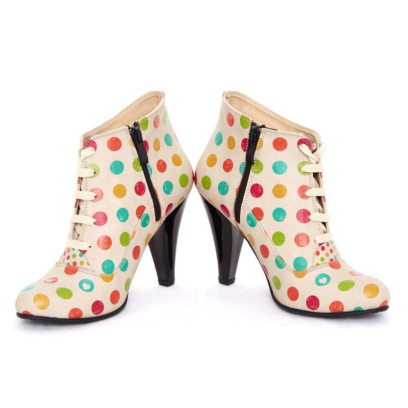 Colored Dots Ankle Boots BT301 (506264485920)