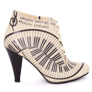 Music Speaks Ankle Boots BT302