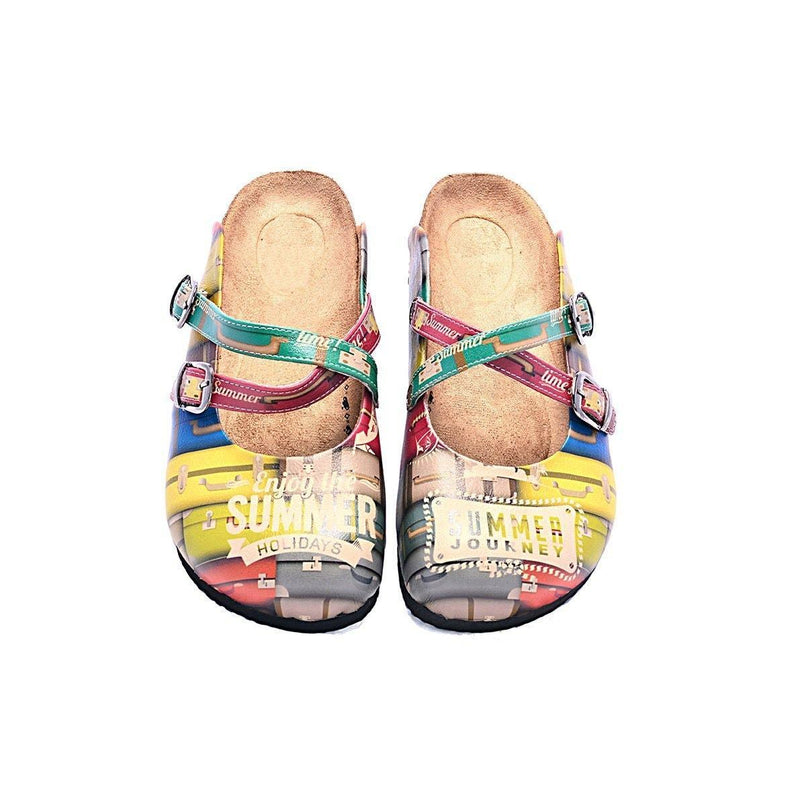 Yellow Suitcase Summer Clogs CAL106