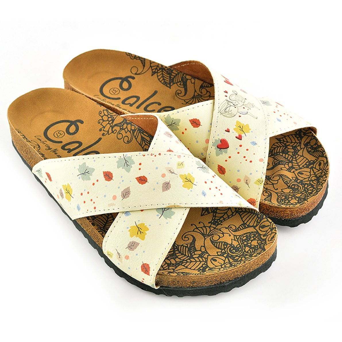 Yellow Leaf Cross-Strap Sandal CAL1107
