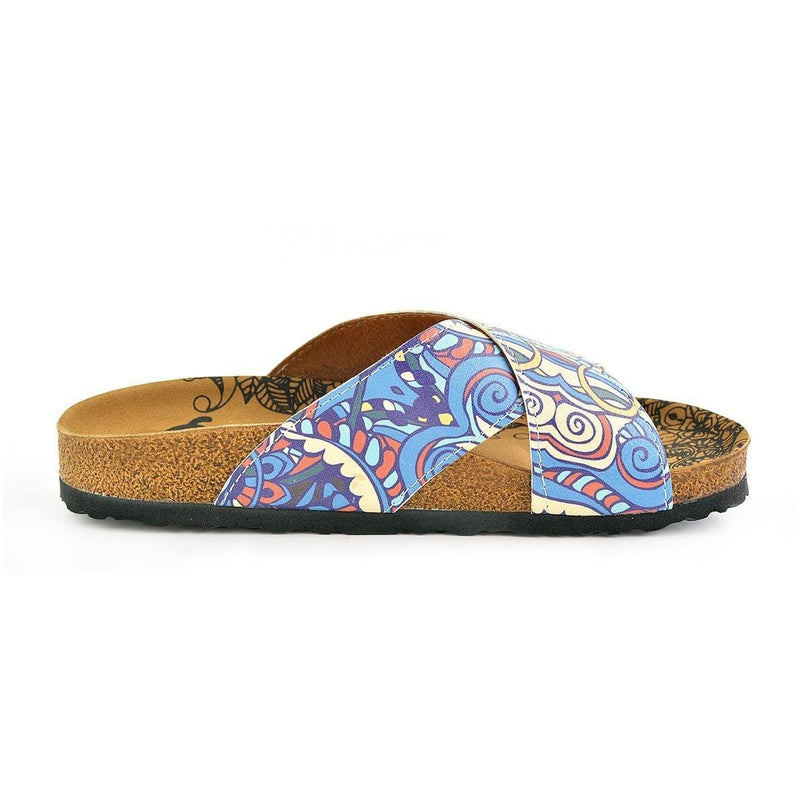 Blue & Yellow Elephant Cross-Strap Sandal CAL1108 (737683243104)