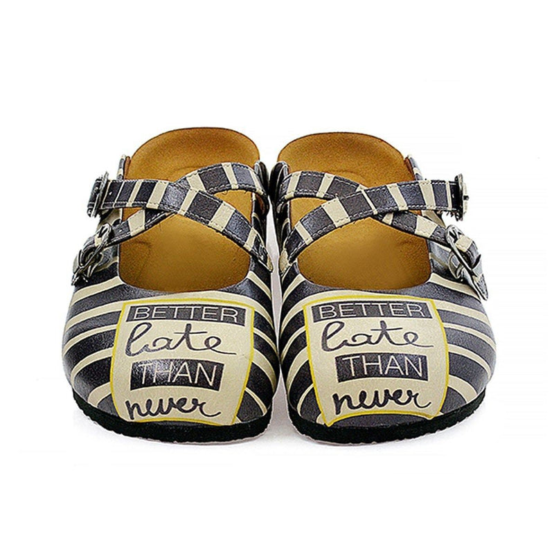 Black Better Late Than Never Clogs CAL111 (737683177568)