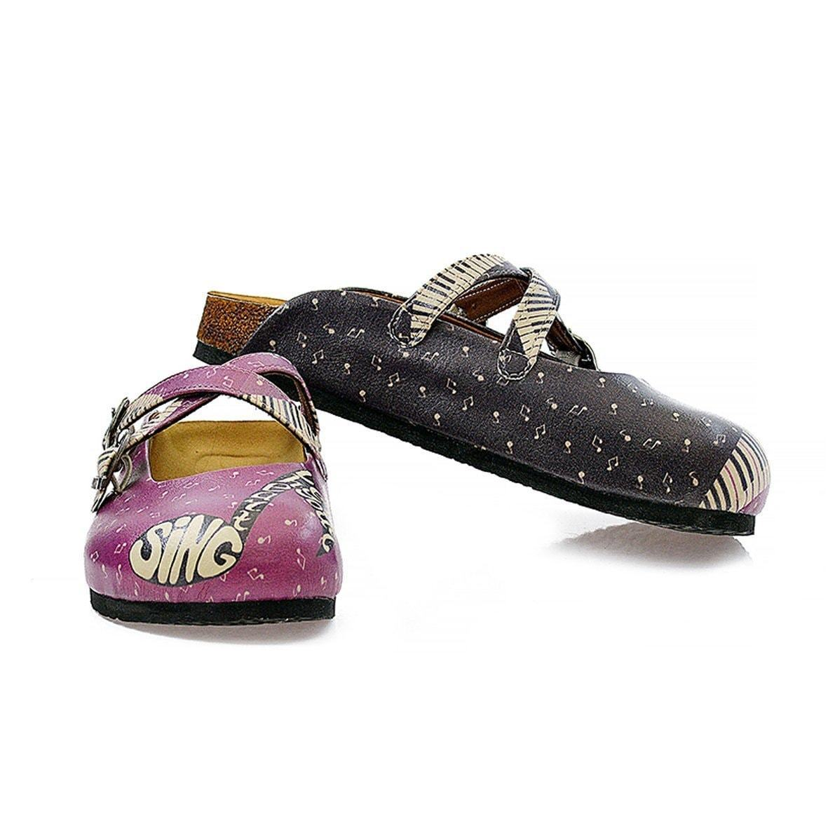 Purple & Black Music Clogs CAL113