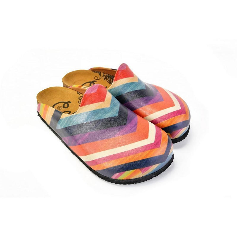 Orange & Pink Chevron Mule CAL1401