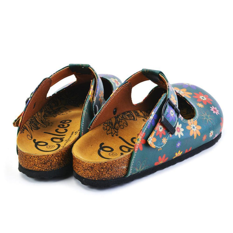 Green Floral Clogs CAL1504 (737756020832)